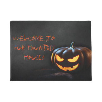 """Welcome To Our Haunted House 18"""" x 24"""" Door Mat"""