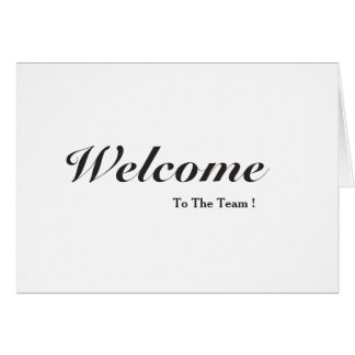 Welcome To The Team White Postcard