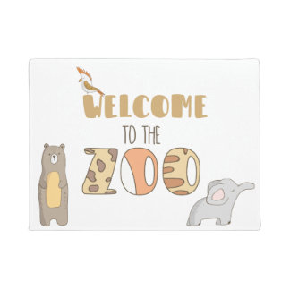 Welcome To The Zoo Door Mat