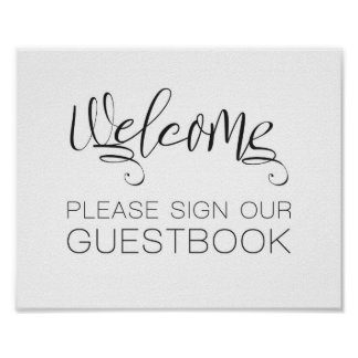 Welcome Wedding Sign Our Guest Book