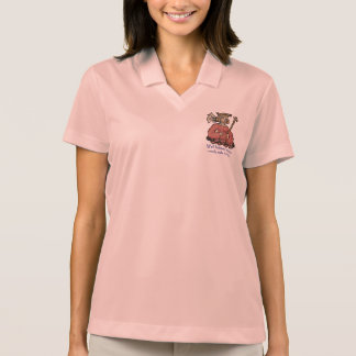 Well behaved women rarely make history, rust polo shirt