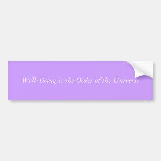 Well-Being bumper sticker