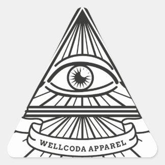 Wellcoda Apparel Illuminati Secret Life Triangle Sticker