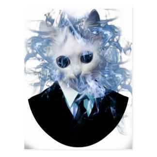 Wellcoda Cat Suit Smoke Weird Animal Pet Postcard