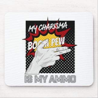 Wellcoda Charisma Is Ammo Fun Comic Hand Mouse Pad