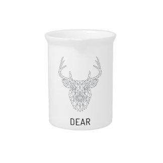 Wellcoda Dear Deer Stag Head Wild Print Pitcher