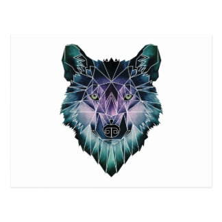 Wellcoda Epic Summer Wolf Face Nature Fun Postcard