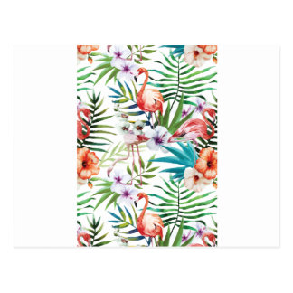 Wellcoda Flamingo Bird Habitat Animal Fun Postcard