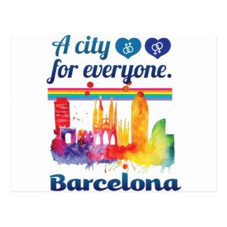 Wellcoda Friendly Barcelona Spain City Postcard
