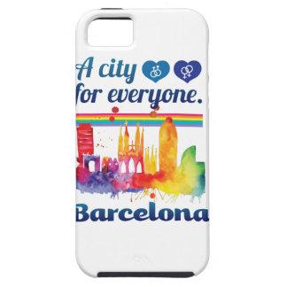 Wellcoda Friendly Barcelona Spain City Tough iPhone 5 Case