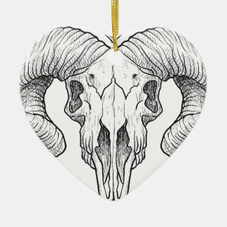 Wellcoda Gothic Horror Skull Sacrifice Ceramic Heart Decoration