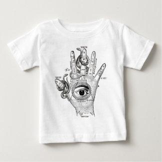 Wellcoda Illuminati Compass Snake Hand Baby T-Shirt