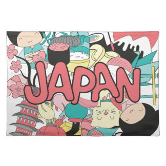 Wellcoda Japan Cartoon Culture Anime Life Placemat