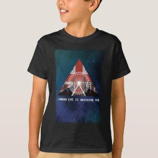 Wellcoda London Eye England UK Illuminati T-Shirt