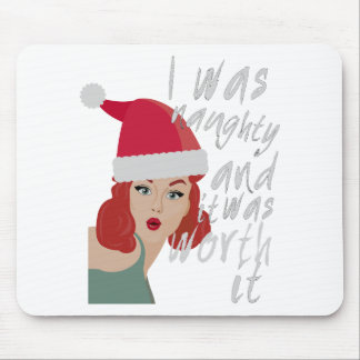 Wellcoda Naughty Christmas Fun Being Bad Mouse Pad