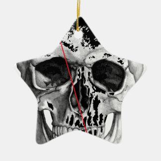 Wellcoda Skull Triangle Death Horror Face Ceramic Star Decoration