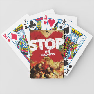 Wellcoda Stop the Madness War Troops Life Bicycle Playing Cards