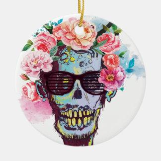 Wellcoda Zombie Skull Skeleton Horror Round Ceramic Decoration