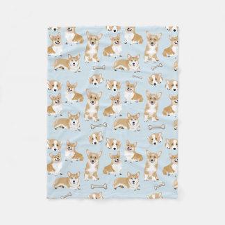 Welsh Corgi Pembroke Dog Puppy Pattern Fleece Blanket