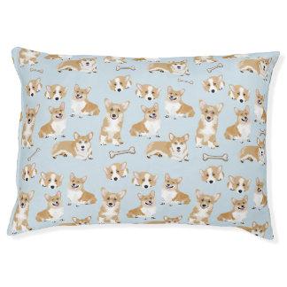 Welsh Corgi Pembroke Dog Puppy Pattern Pet Bed
