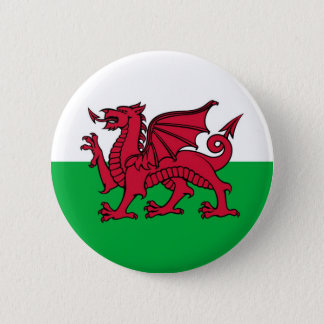 Welsh Dragon 6 Cm Round Badge