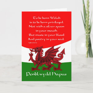 Welsh birthday cards zazzle welsh dragon birthday card poem by brian harris m4hsunfo