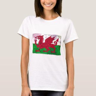 Welsh Flag Grunge T-Shirt