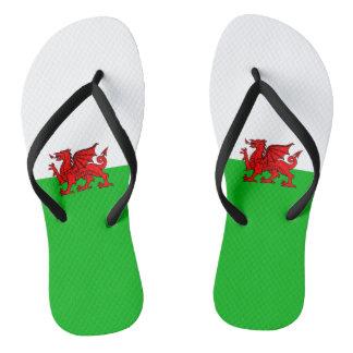 Welsh flag jandals