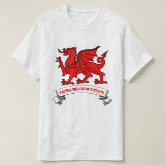 Welsh Red Dragon With Slogan T-Shirt