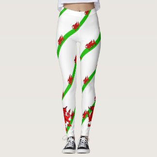 Welsh stripes flag leggings