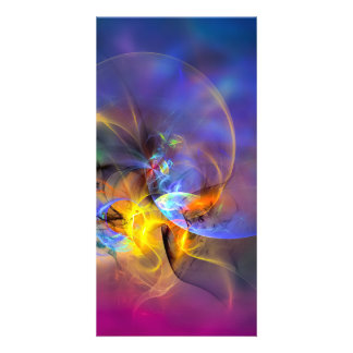 Wendy - colorful digital abstract art customized photo card