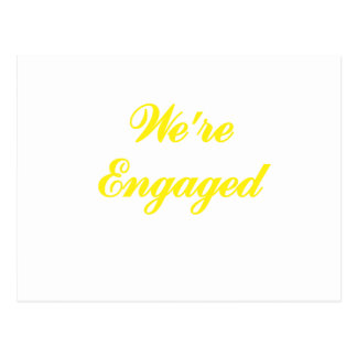 Were Engaged Postcard