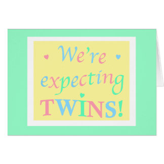 """""""We're expecting TWINS!"""" Card"""