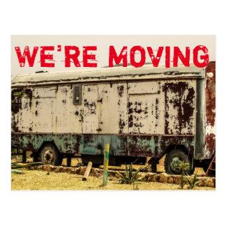 We're Moving Funny Change of Address Postcard