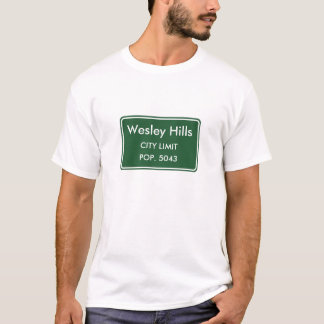 Wesley Hills New York City Limit Sign T-Shirt