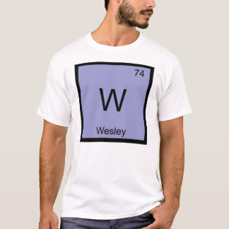 Wesley Name Chemistry Element Periodic Table T-Shirt