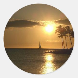 West Hawaii Sunset Classic Round Sticker