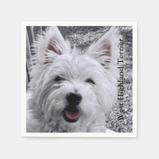 West Highland Terrier Disposable Serviettes
