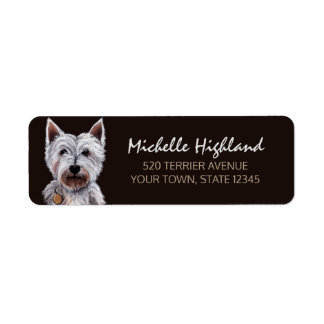 West Highland Terrier Dog Pastel Illustration
