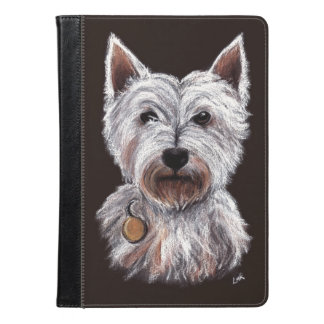 West Highland Terrier Dog Pastel Pet Illustration iPad Air Case