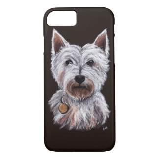 West Highland Terrier Dog Pastel Pet Illustration iPhone 8/7 Case