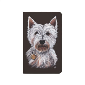 West Highland Terrier Dog Pastel Pet Illustration Journal