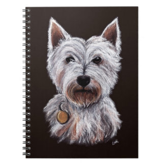 West Highland Terrier Dog Pastel Pet Illustration Notebook