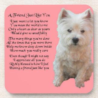 West Highland Terrier - Friend Poem Coaster