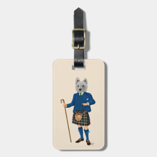 West Highland Terrier in Kilt 2 Luggage Tag