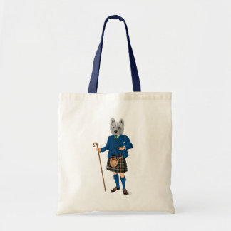 West Highland Terrier in Kilt 2 Tote Bag