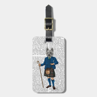 West Highland Terrier in Kilt 3 Luggage Tag
