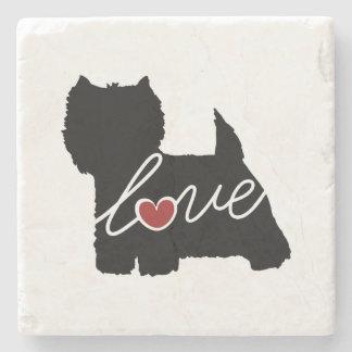 West Highland Terrier (Westie) Love Stone Coaster