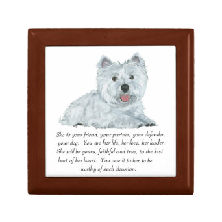 West Highland White Terrier Tile Box