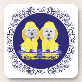 West Highland White Terriers Rain Coaster